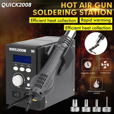 Quick 2008 Portable Hot Air Gun Smd Bga Rework Station Soldering 110v 700w