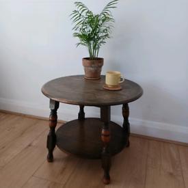 Vintage Solid Wood Coffee Table Mid Century