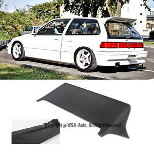 for 88 91 civic ef9 j style rear roof spoiler wing frp 3dr hatchback body kit. Black Bedroom Furniture Sets. Home Design Ideas