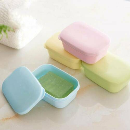 1PC Travel Soap Dish Box Case Holder Container Wash Shower Home Bathroom SoapBox