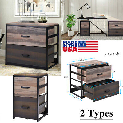 Walnut File Cabinet Office Home Mdf Vertical Filing Cabinet With 2 Drawers Usa