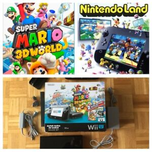 Console Wii U Mario 3D + Nintendoland - 240$