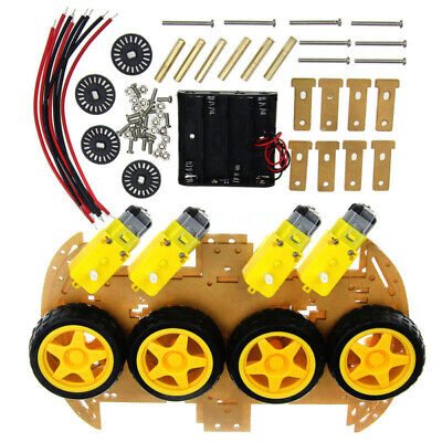 20pcsset 4wd Robot Smart Car Chassis With Tachometer Speed Encoder For Arduino