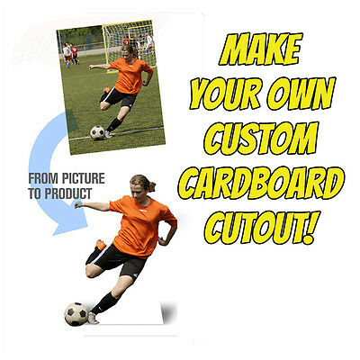 CREATE YOUR OWN Custom Lifesize CARDBOARD CUTOUT Standee Standup Poster Gift