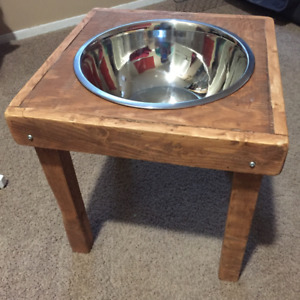Hand-crafted Wooden Dog Dish