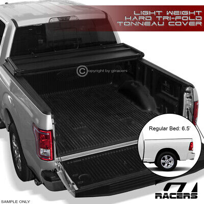 For 2002-2008/2009 Dodge Ram 6.5 Ft Cab Short Bed Tri-Fold Hard Tonneau Cover Lw