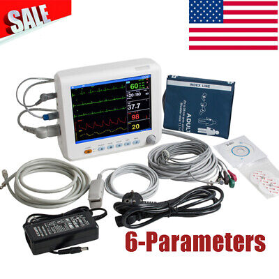 Patient Monitor Multi-parameter Vital Sign Cardiac Monitor Ecg Temp Pr Nibp Spo2