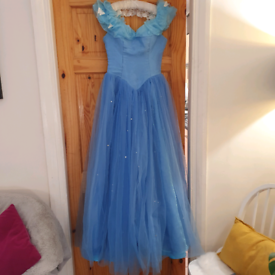 Adult Cinderella 2015 Deluxe Cosplay Costume Ball Gown size 6.