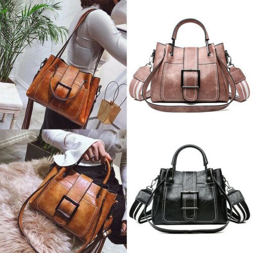 Women Vintage Handbag Tote Leather Shoulder Bags Boho Crossb