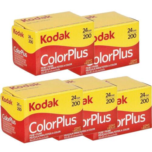 5 Rolls Kodak ColorPlus 200 ASA 135-24 Exp. 35mm Color Plus Film, US SELLER