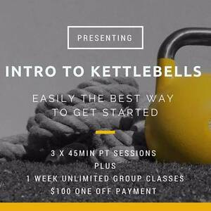 $100 Intro Package- 3x PT Plus 1 week small group classes Leederville Vincent Area Preview