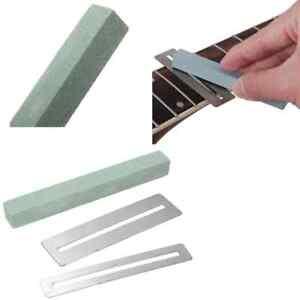 UK Guitar fret Repairing Tool Stainless Steel Protector shims&Sanding Polish Kit