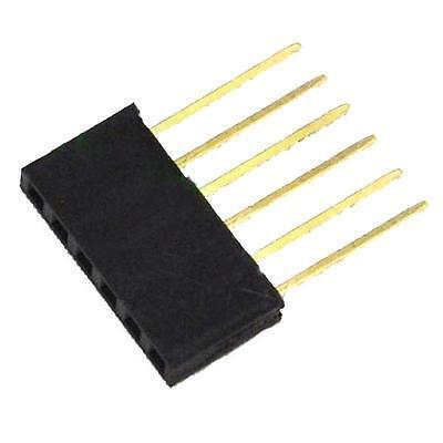 5pcs 6 Pin 2.54 Mm Stackable Long Legs Femal Header For Arduino Shield