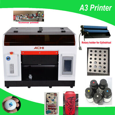 Achi A3 Uv Printer 6 Colorrotary Holder For Flat Cylindricalgolf Molds