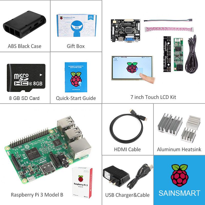 Raspberry Pi 3 Model B Kit With Quick-start Guide, Box, T...