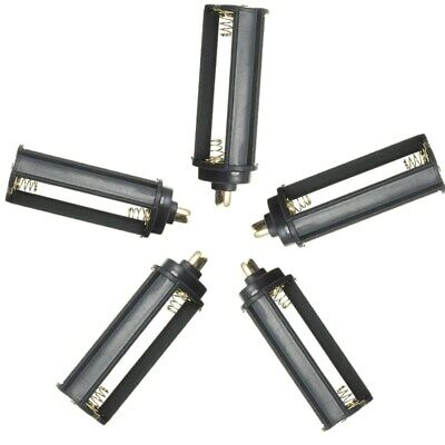 5PC 3 AAA Battery Holder Case Box Cylindrical For Tactical 18650 LED Flashlight