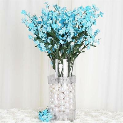 384 Turquoise Silk BABY BREATH FILLER FLOWERS Wedding Flowers Party Centerpieces (Turquoise Silk Flowers)