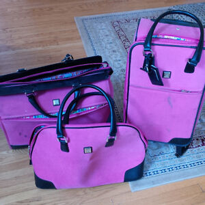 3 piece DVF luggage set