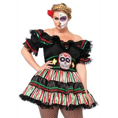 Dia De Los Muertos Girl Sugar Skull Halloween Costume (Sugar Skull Girl Halloween)