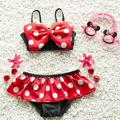 US STOCK Summer Baby Girl Kids Bathing Suit Swimwear Bikini Set Tankini Swimsuit - Swimwear Girls
