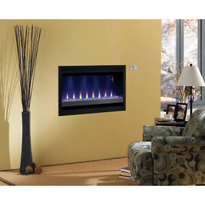 Builder Box Contemporary Wall Mount Electric Fireplace Insert b
