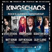 Kings of Chaos (guns n roses, skid row) front row tickets!