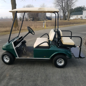 golf cart with back seat