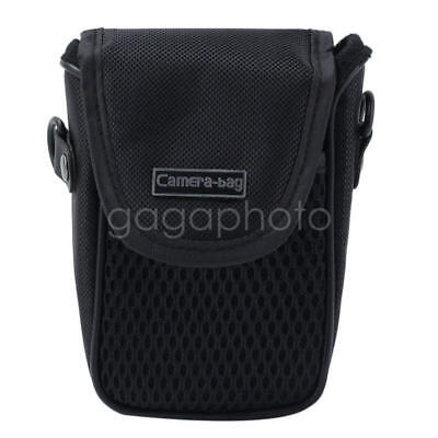 Black Mesh Digital Camera Pouch Case Bag Sleeve Protector with Belt Strap Buckle ()