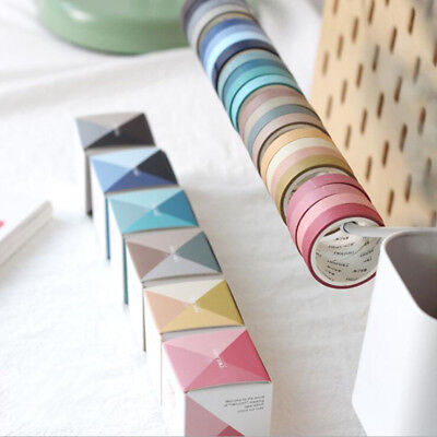 4* Fall In Love with Color Washi Tape Kawaii Scrapbooking Decorative Tapes 2019 - Fall Washi Tape