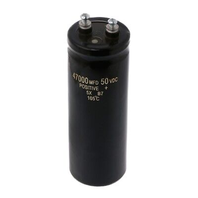 50v 47000ufmfd Aluminum Screw Audio Filtering Electrolytic Capacitor 105