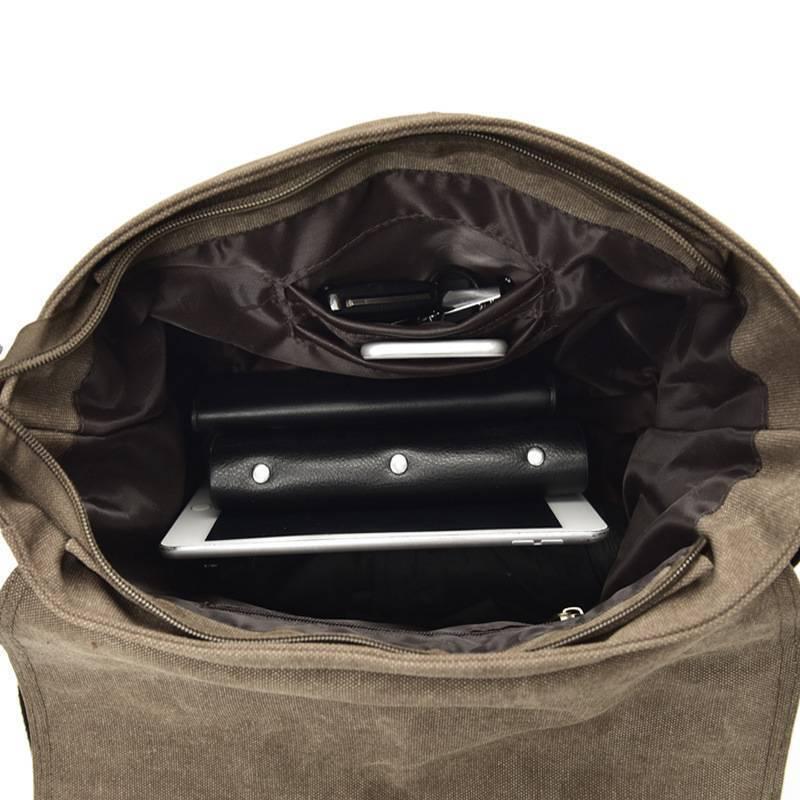 Men's Satchel New Messenger Bag Canvas Vintage Schoolbag Shoulder Laptop Bags