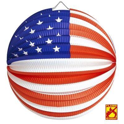 USA LAMPION  Ø 25cm Länder Party Deko Artikel - Laterne  - flammhemmend