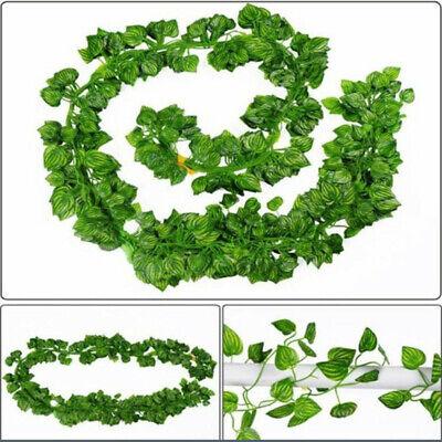 Fake Ivy Leaves (6.5ft Artificial Ivy Vine Leaf Garland Green Rattan Plants Fake Foliage)