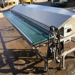 12' stainless conveyer table