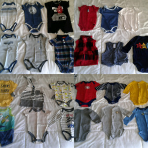 0-3 Months Boys clothing lot 56 pieces in total.