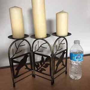 3 Pillar Candle Holder Stand London Ontario image 2