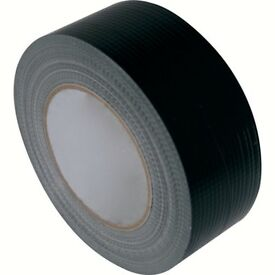 Extra Wide Heavy Duty Duct Tape - Black 70mm (2¾ inch) x 50m - 4 Rolls