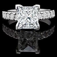 Diamond Engagement Ring 2.05CTW Bague de Fiançailles en Or 14k