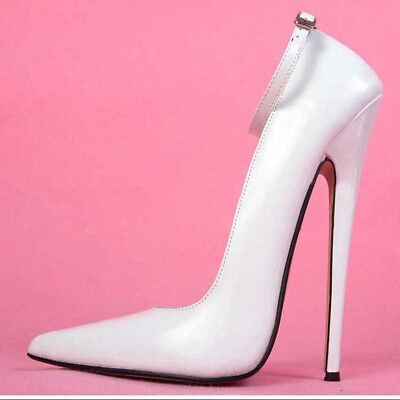 7.08 inches Heel Height Sexy PU Pointed Toe Stiletto Heel Pumps US size 6-14