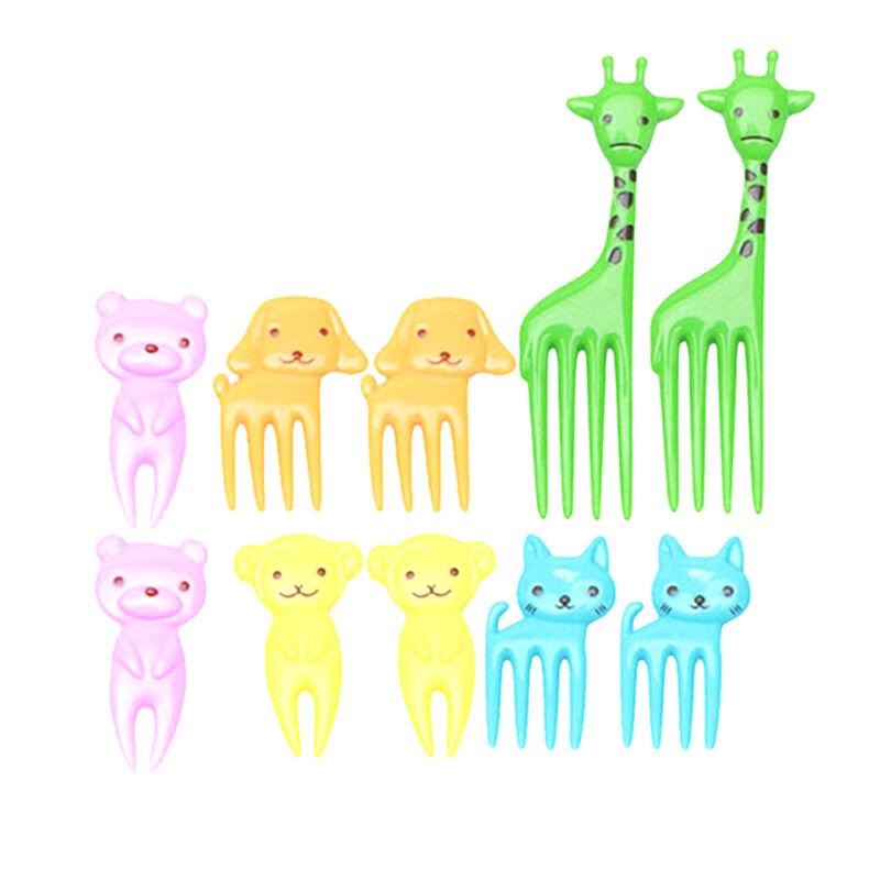 10x Bento Cute Animal Food Fruit Picks Forks Lunch Box Accessory Decor Tools