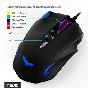 4000 DPI LED Optical Programmable Gaming Mouse for PC NEW