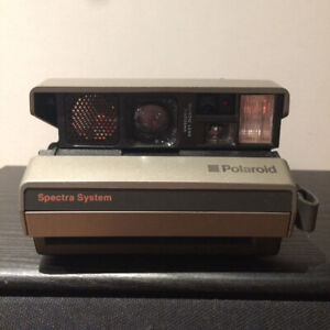 Vintage Polaroid Spectra System Camera, w. Case & Instructions