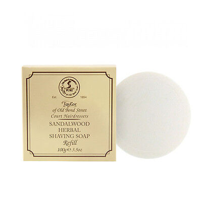 Taylor of Old Bond Street Sandalwood Hard Shaving Soap Refill, - Hard Shaving Soap Refill