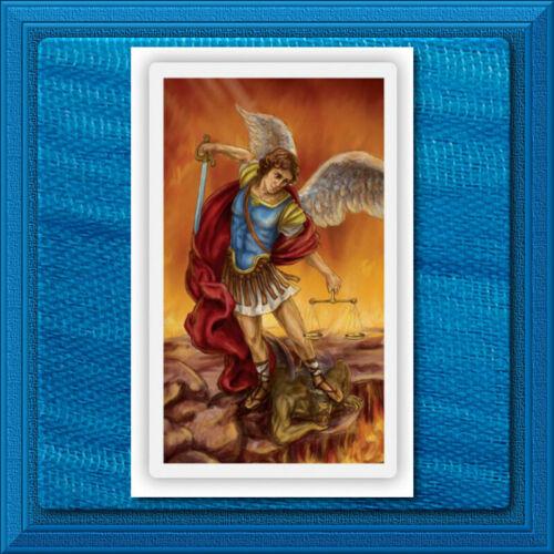 Saint Michael LAMINATED Wallet Size Holy Catholic Card Prayer St. the Archangel