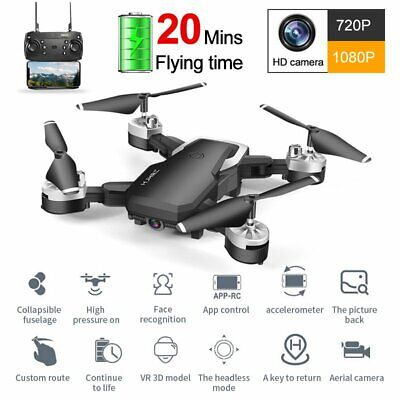 Drone X Foldable Quadcopter Aircraft WIFI FPV 1080P Wide-Angle HD Camera+Remoter