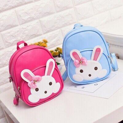 Baby Kids Girls PU Leather Shoulder Bags Cartoon Rabbit Mini