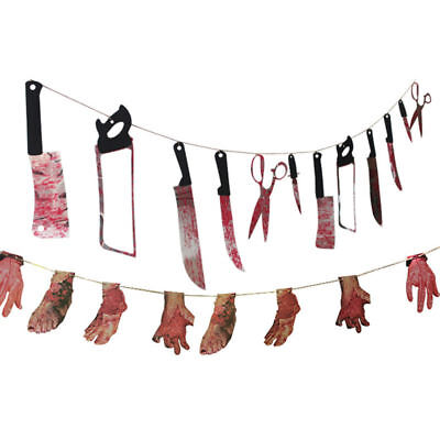 Spooky Halloween Party Haunted House Hanging Garland Pennant Banner Decor US - Spooky Halloween Party Decorations