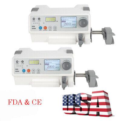 2pcs Portable Medical Injection Syringe Pump Perfusor Injector Machine Kvo Alarm