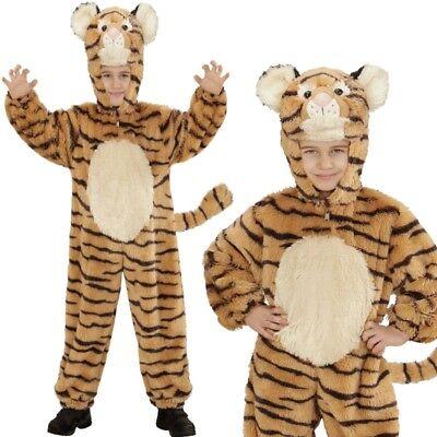 TIGER Kinder Kostüm 113cm 3-5 Jahre Plüsch Overall Tierkostüm Tigerkostüm #8113