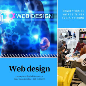 Website design, conception de site web et de Graphiste